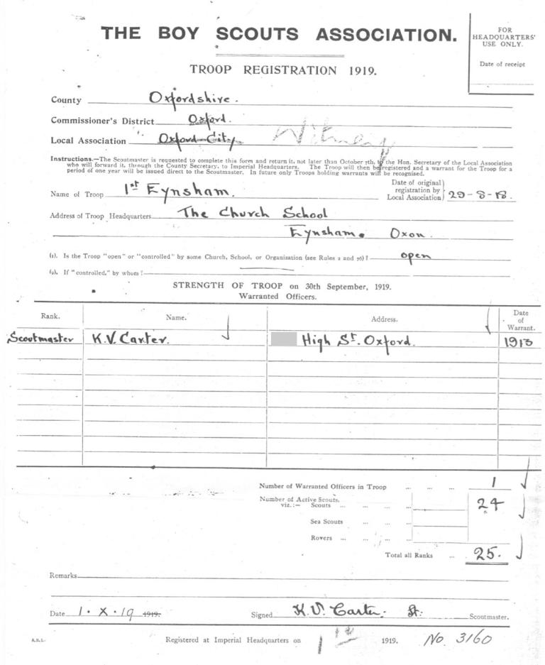 1918 Group registration document