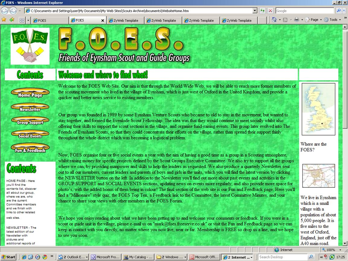 2000 FOES WEBSITE HOME PAGE