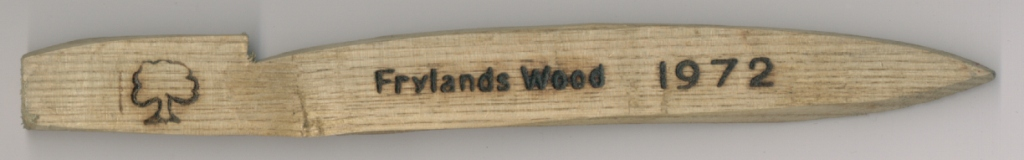 1972 Frylands Wood Peg